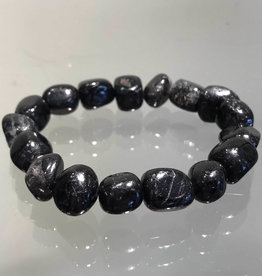 Black Tourmaline Tumbled Bracelet