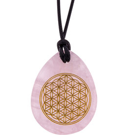 Flower of Life - Rose Quartz Necklace