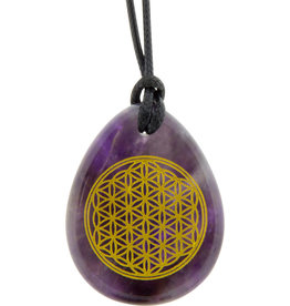 Flower of Life - Amethyst Necklace