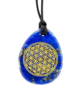 Flower of Life - Lapis Lazuli Necklace