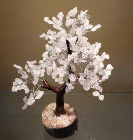 Rose Quartz Gemstone Tree - 10 inich - 300 Crystals