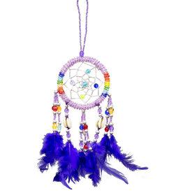 Dream Catcher Beaded 7 Chakra- purple- 30189