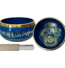 Singing Bowl Small - Fatima Hand - Blue - 31545