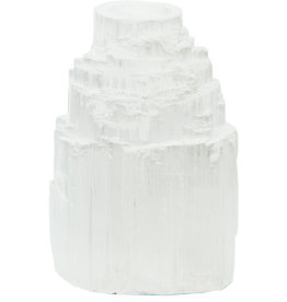 Candle Holder - Mini Iceberg White Selenite - 04624