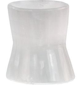 Selenite Sphere Stand - Hourglass - 35507