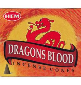Incense - Hem Dragons Blood Cone - (72455) IHEM-CN-DRAG
