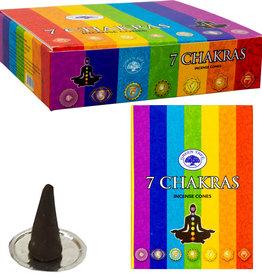 Incense - Green Tree Cones - 7 Chakras - 72642