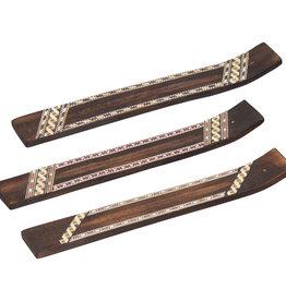 Incense Holder - Wood Geometric Pattern - 89113