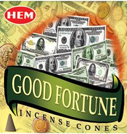 Incense - Hem Good Fortune Cones - 72030 (IHEM-CN-GF)
