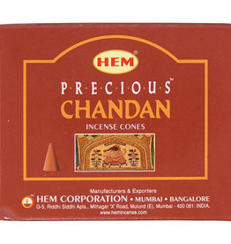 Incense - Hem Precious Chandan Cone - 73025 (IHEM-CN-PRCH)