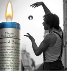 Blessed Herbal Candle - Emotional Balance, Water- BHC-EM