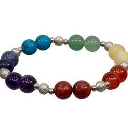 Bracelet - 7 Chakra Bracelet with Metal Ball - 98077
