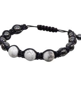Bracelet - Magnetic Hematite Howlite -  95303