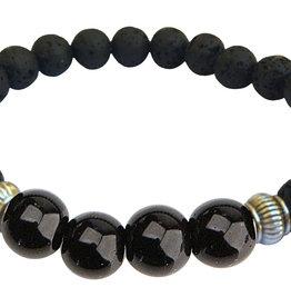 Lava Diffuser Bracelet - Power/Success Onyx
