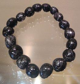 Black Tourmaline Free-Form Bracelet