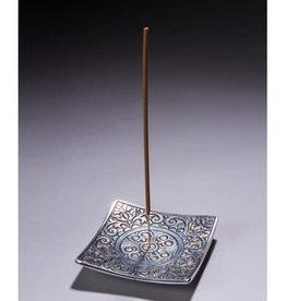 Square Patterned Incense Holder