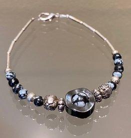 Navajo Bracelet - Silver & Stone (A)