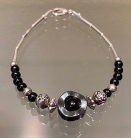 Navajo Bracelet - Silver & Stone (D)