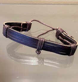 Brown Leather Bracelet (A)