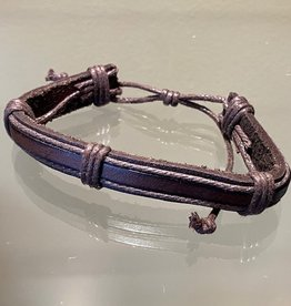 Brown Leather Bracelet (C)