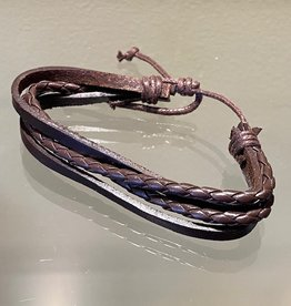 Brown Leather Bracelet (E)