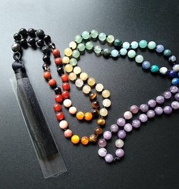 Mala - 108 Chakra Prayer Beads - Hand Knotted