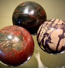Red Creek Jasper Sphere- smaller
