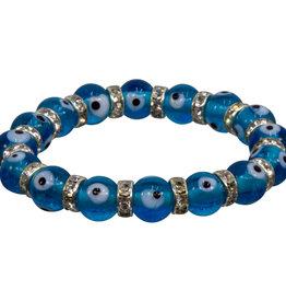 Evil Eye Bracelet - Aqua- 95223
