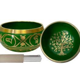 Singing Bowl Small - Tree of Life - Green - 31546