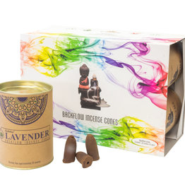 Incense - Goloka Lavender Backflow Cones - 24 per can - 75002