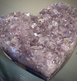 Amethyst Druze Heart- metalic thick