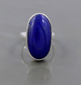 Lapis Lazuli and Sterling Silver Ring (Size 8) - AGR-20229-03-L2