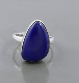 Lapis Lazuli and Sterling Silver Ring (Size 7) - R-20229-03-1-28