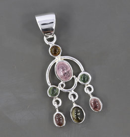 Tourmaline and Sterling Silver Pendant - PA-23224-01-66-2