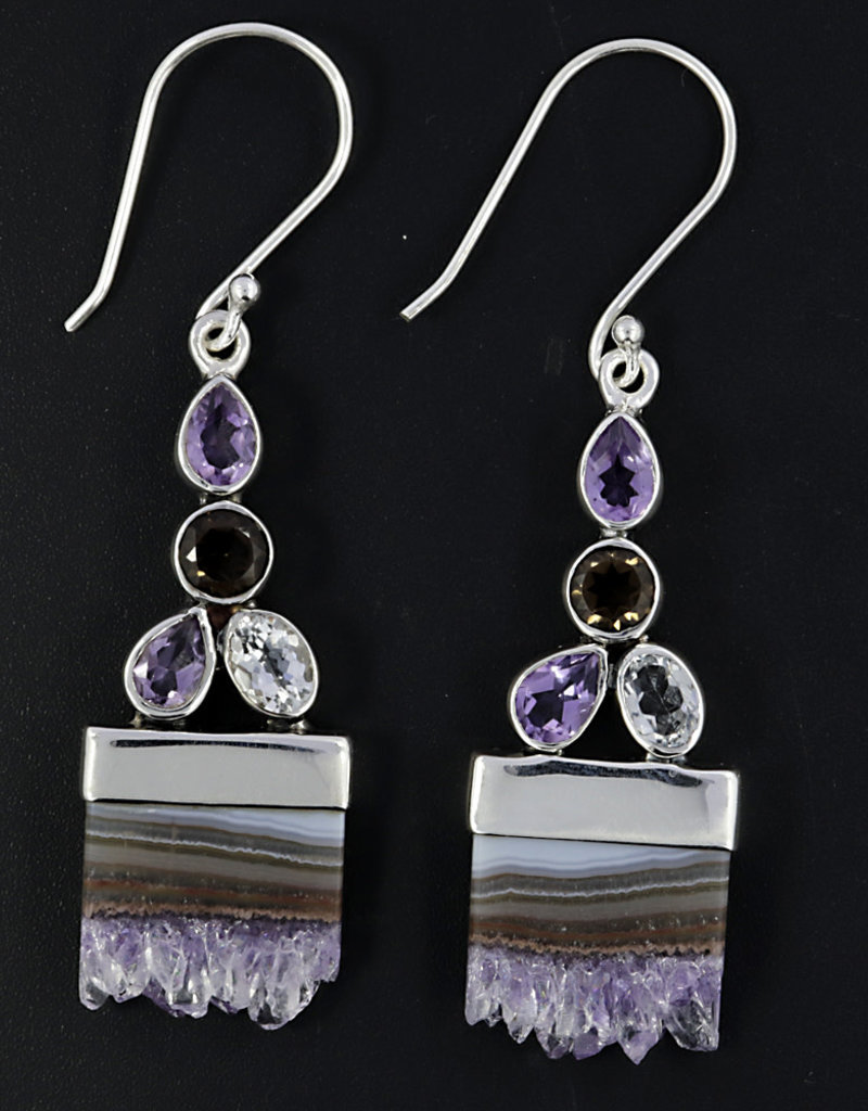 Amethyst Stalactite and Sterling Silver Earrings - ER-21645-21