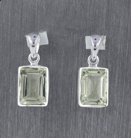 Green Amethyst and Sterling Silver Pendant - PA-20060-254-10