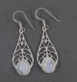 Rainbow Moonstone and Sterling Silver Earrings - ER-21295-9-60