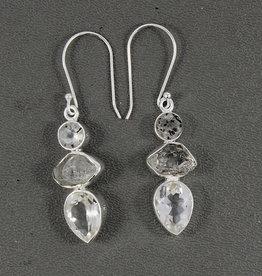 Herkimer Diamond and Sterling Silver Earrings - ER-20009-182-564