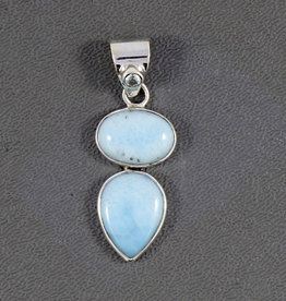 Larimar and Sterling Silver Pendant - PA-21039-01-1007