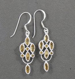 Citrine and Sterling Silver Earrings - ER-20970-17-53-27
