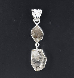 Herkimer Diamond and Sterling Silver Pendant -PA-20531-31-58-1