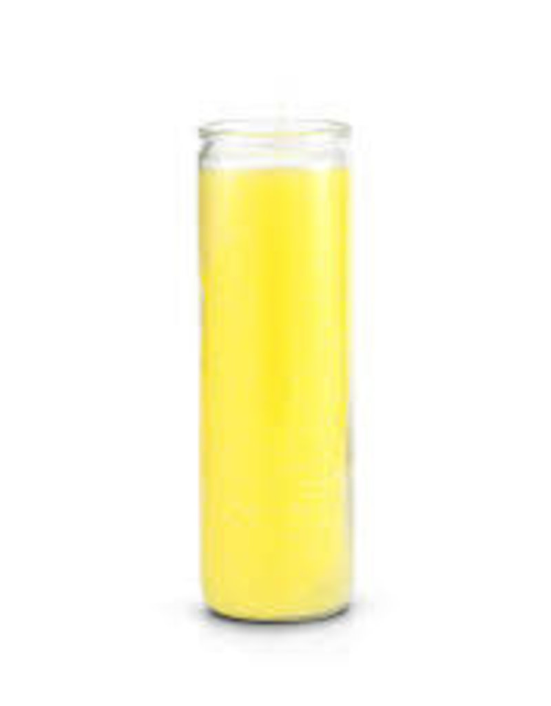7 Day Candle - Yellow Pullout - CPR-YEL & CPO-ZGLASS