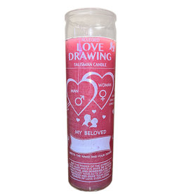 7 Day Candle - Love Drawing - Pink