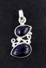 Amethyst Cabochon Sterling Silver Pendant - PA-22343-04-26