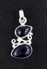 Amethyst Cabochon Sterling Silver Pendant - PA-22343-04-26