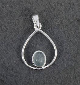 Aquamarine Sterling Silver Pendant - PA-24225-03-29