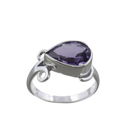 Amethyst Sterling Silver Ring (Size 8) - R-20552-03-A