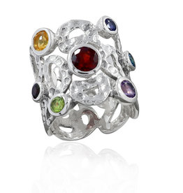 Charka Sterling Silver Ring (Size 5, 6) - R-20895-95-6144