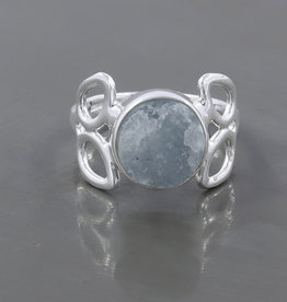 Raw Aquamarine Sterling Silver Ring (Size 6, 8) - R-23355-34-4