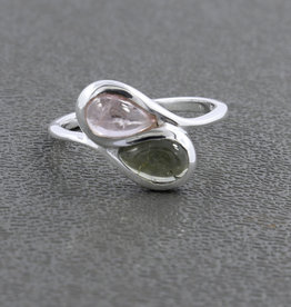 Pink Tourmaline Sterling Silver Ring (Size 6) - R-22913-07-36-2